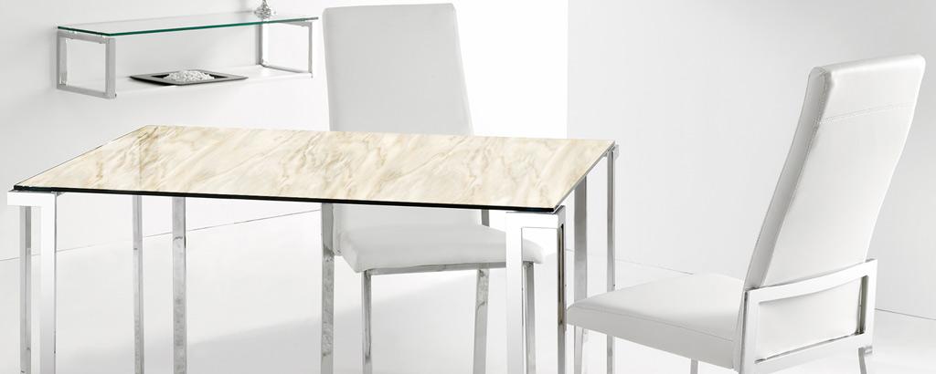 Fabricantes de cristal decorado para mesas - VINALSA