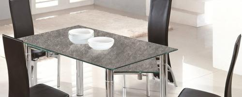 Cristal para mesa decorado