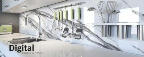 cocina vidrio calacata - impresion digital vidrio